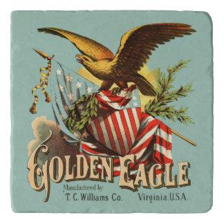 Golden Eagle Tobacco Patriotic Antique Advertising Trivet