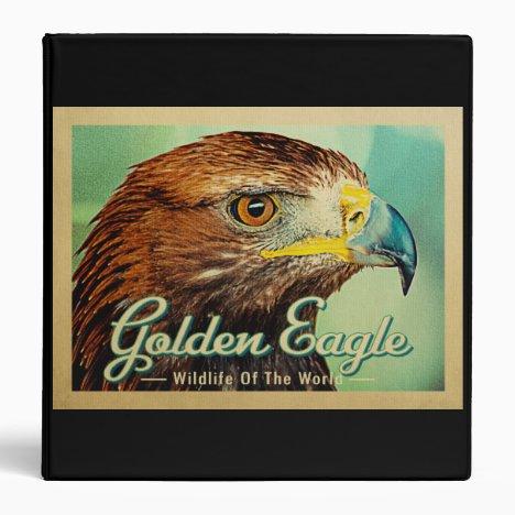 Golden Eagle - Wildlife of the World Bird 3 Ring Binder