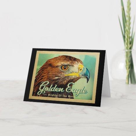 Golden Eagle - Wildlife of the World Bird Card