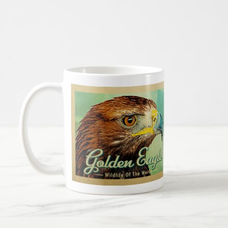 Golden Eagle - Wildlife of the World Bird Coffee Mug
