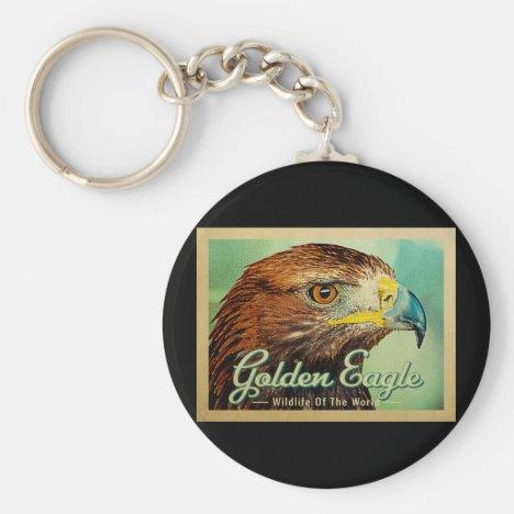 Golden Eagle - Wildlife of the World Bird Keychain