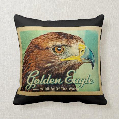 Golden Eagle - Wildlife of the World Bird Throw Pillow