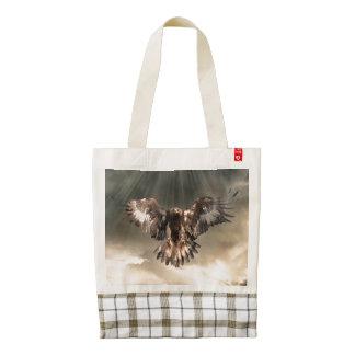 Golden Eagle Zazzle HEART Tote Bag