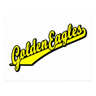 Golden Eagles in Yellow Postcard