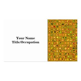 Golden Earth Tones Textured Mosaic Tiles Pattern Business Card