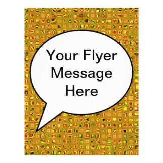 Golden Earth Tones Textured Mosaic Tiles Pattern Flyer