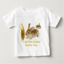 Golden Easter Egg and Bunnies Baby T-Shirt