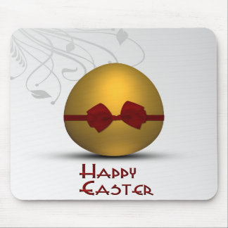 Golden Easter Egg  with Bow - Mousepad