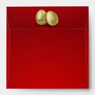 Golden Easter Eggs - Envelope Square