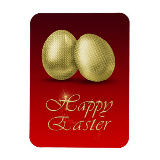 Golden Easter Eggs - Flexible Magnet