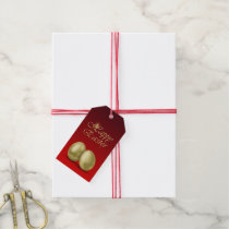 Golden Easter Eggs - Gift Tag
