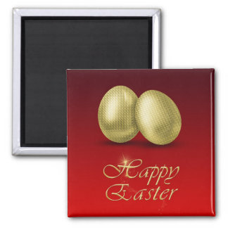 Golden Easter Eggs - Magnet
