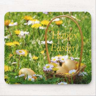 Golden Easter Eggs Mousepad