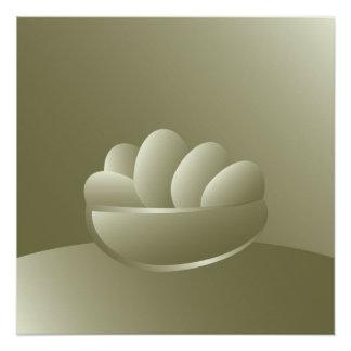 Golden Easter eggs Poster