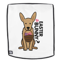 Golden Easter Funny for Boys Girls Love Dog Puppy Backpack
