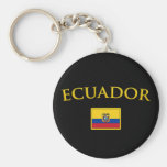 Golden Ecuador Keychain