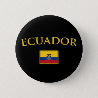 Golden Ecuador Pinback Button