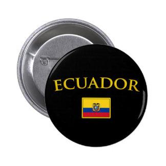 Golden Ecuador Pinback Button