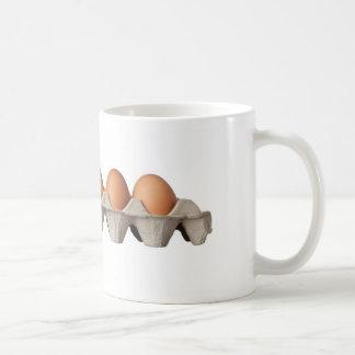 Golden egg classic white coffee mug