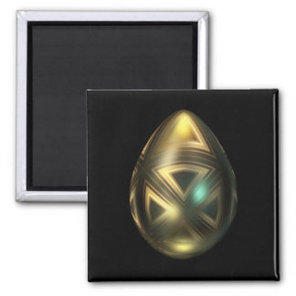 Golden Egg with Maltese Cross Magnet