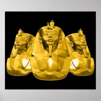 Golden Egyptian Pharaohs Poster