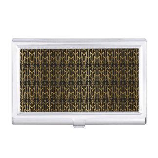 Golden Egyptian Wheat Color Barley Art Deco Business Card Case