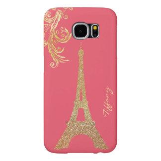 Golden Eiffel Tower Custom Samsung S6 Case Samsung Galaxy S6 Cases