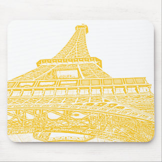 Golden Eiffel Tower Design Mousepads