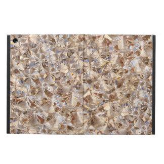 Golden Elegance Crystals Decor iPad Air Cases