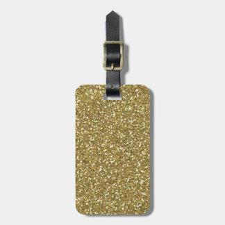 Golden Elegance Decor Luggage Tag