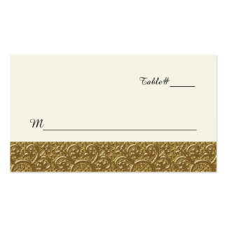 Golden Elegance Wedding Place Card Double-Sided Standard Business Cards (Pack Of 100)