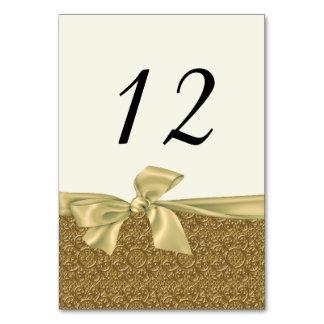 Golden Elegance Wedding Table Number Card Table Card