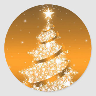 Golden Elegant Christmas Tree Sticker