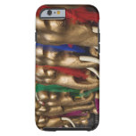 Golden elephants decorated with colorful tough iPhone 6 case