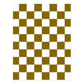 Golden Elm Checkerboard Postcard