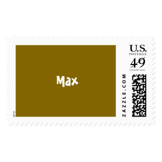 Golden Elm Personalized Postage Stamps