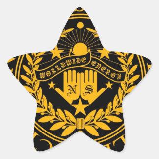 GOLDEN EMBLEM STAR STICKER