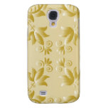 Golden embroidery Samsung Galaxy S4 Cases