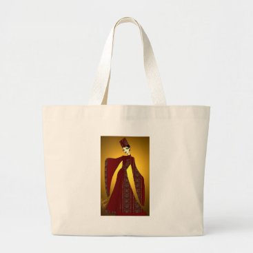jasmineflynn Golden Empress Large Tote Bag