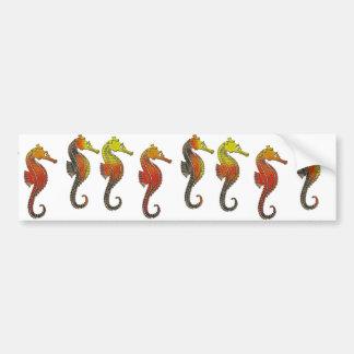 Golden Enameled Seahorse Bumper Sticker