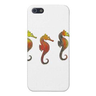 Golden Enameled Seahorse iPhone 5 Case