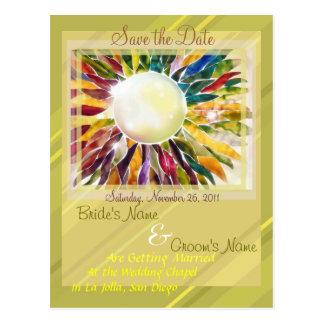 "Golden""Engagement jewelry""  Modern Invitation Postcard"