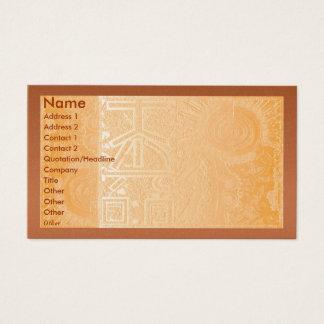 Golden Engraved Look Business Card
