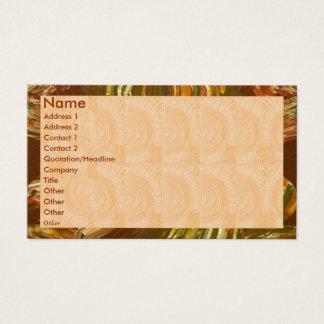Golden Engraved Look - Flame Border Business Card