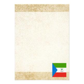 Golden Equatorial Guinea Flag Card