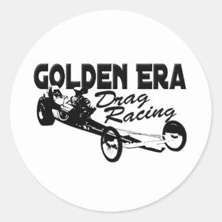 Golden Era Drag Racing Slingshot Dragster Classic Round Sticker