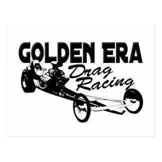 Golden Era Drag Racing Slingshot Dragster Postcard