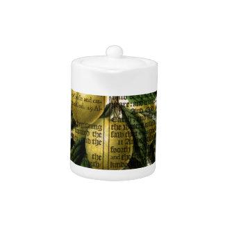 Golden Esperen Plum Flower Teapot