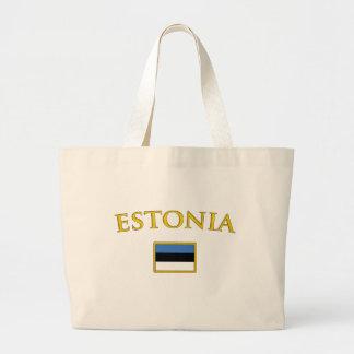 Golden Estonia Large Tote Bag
