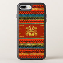 Golden  Ethnic Mask on Bright Tribal Pattern OtterBox Symmetry iPhone 8 Plus/7 Plus Case